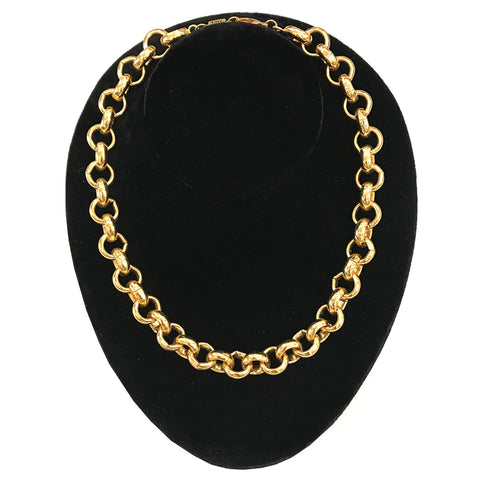 Poggi Gold Metal Chain Link Necklace