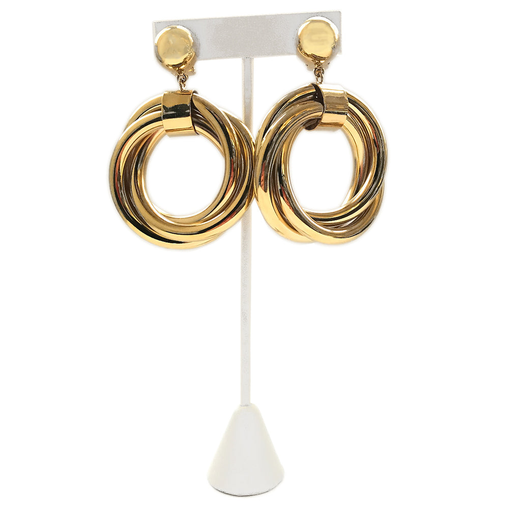 Poggi Hoop Woven Earrings