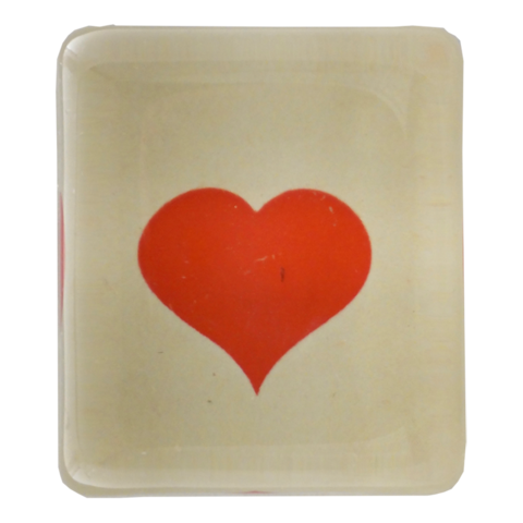 John Derian Blood Red Heart Charm Paperweight