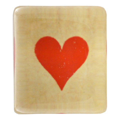 John Derian Deep Red Heart Charm Paperweight