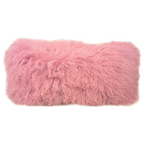 Rose Tibetan Lamb Pillow