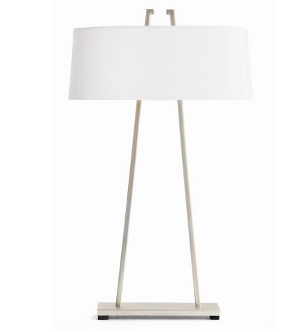 Satin Nickel Contemporary Table Lamp