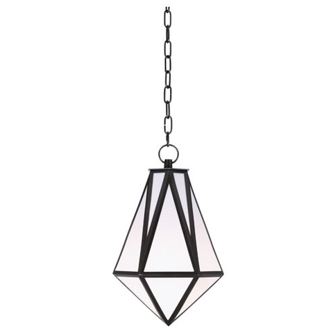 Faceted Bronze and Acrylic Pendant