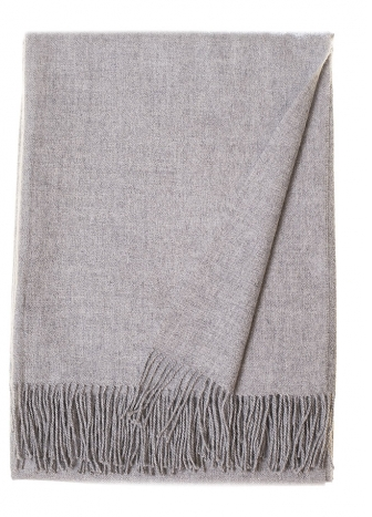 Baby Alpaca Light Grey Throw