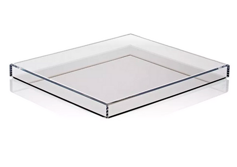 Alexandra Von Furstenberg's Bronze tinted acrylic tray perfect for an ottoman, sideboard or vanity.