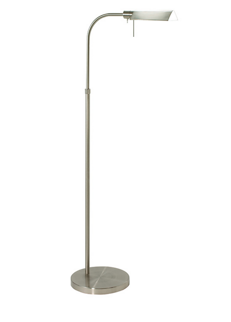 Satin Nickel Pharmacy Tent Floor Lamp