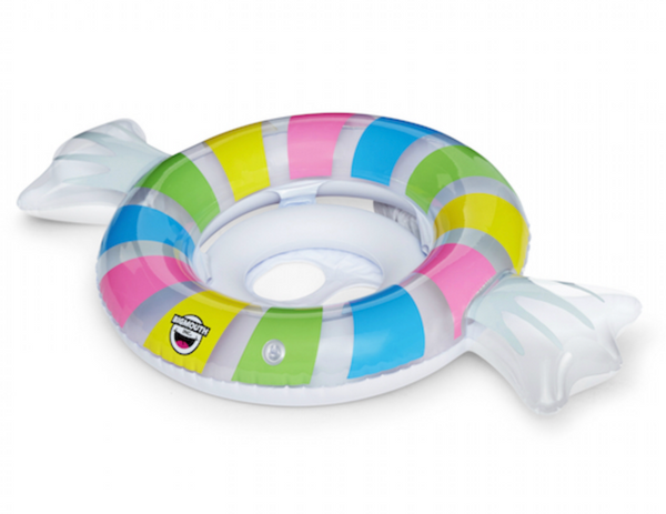 The new Lil' Float pool float line is dual-chambered for stability, featuring a secure & comfy seat with openings designed for babies and toddlers.