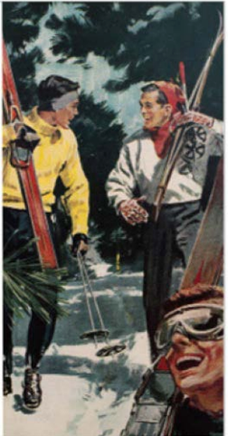 Vintage Skier Boys Match Box
