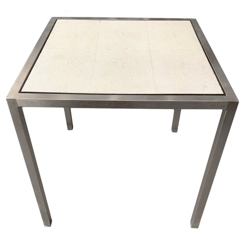 Faux Shagreen Side Table