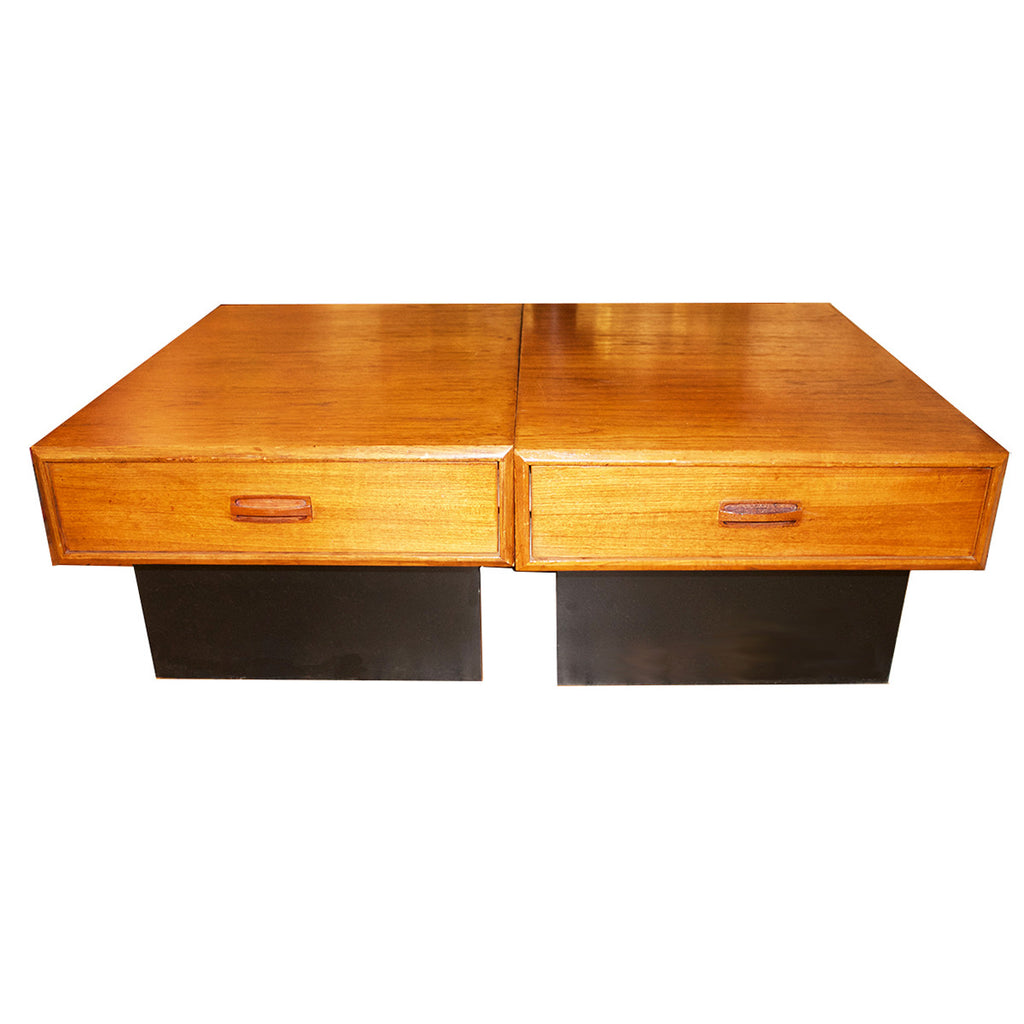 Pair of Vintage Teak End Tables