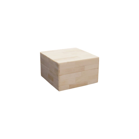 Small Square Natural Horn Box