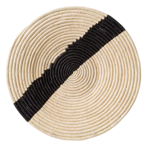 Striped Large Raffia Disc