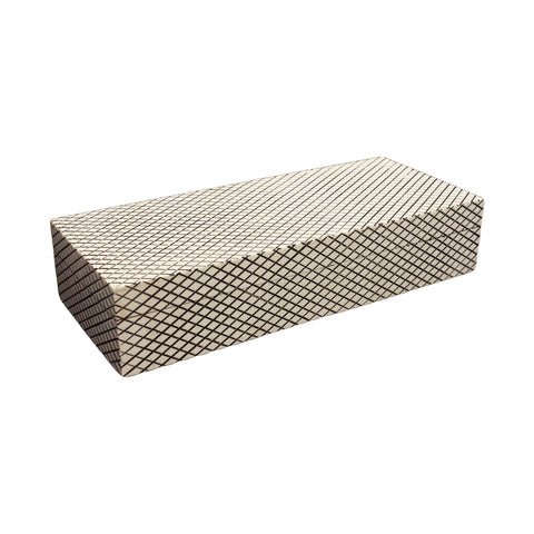 Long Black and White Diamond Pattern Box
