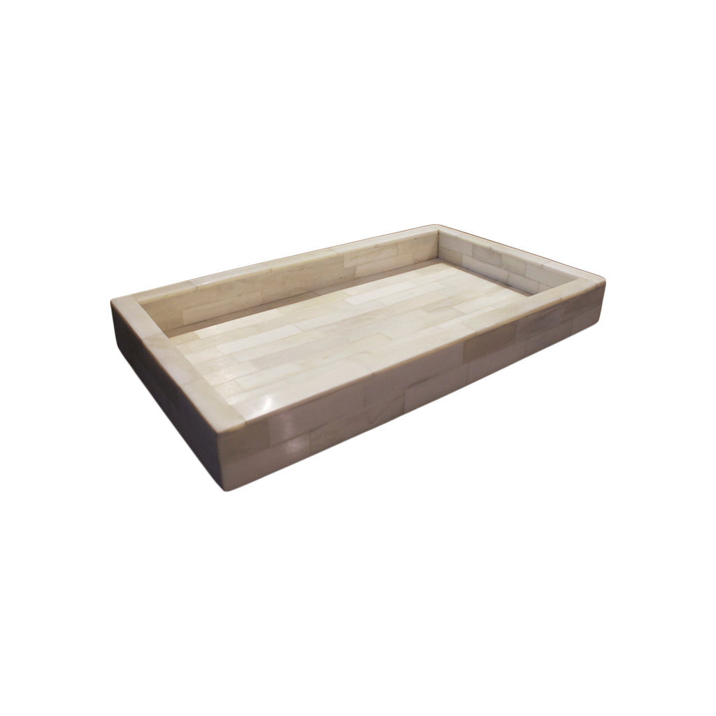 Natural Tiled Horn Tray