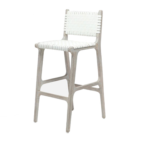 White Woven Counter stool