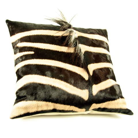 Zebra pillow for your wild side.