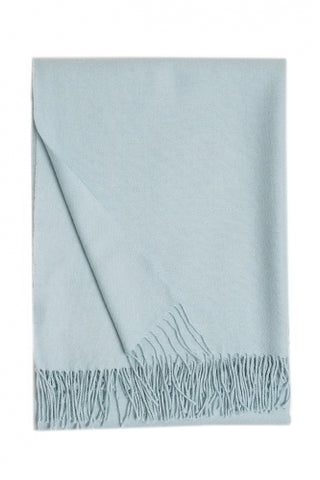 Baby Alpaca Throw Ice Blue