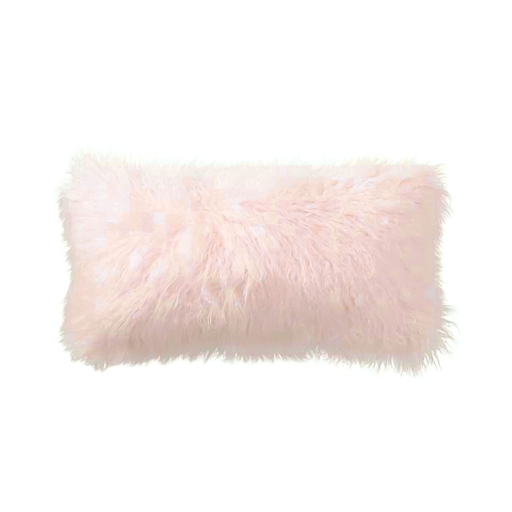 Light Pink Tibetan Lamb Pillow