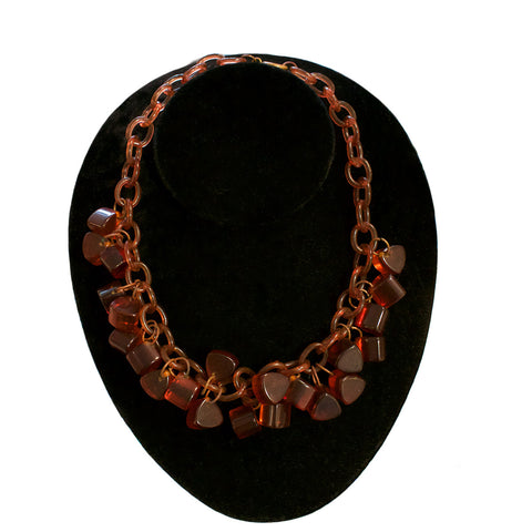 Bakelite dangle necklace circa 1930s