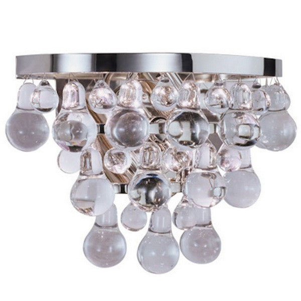 "Pair of Chrome and Glass ""Bling"" Sconces"