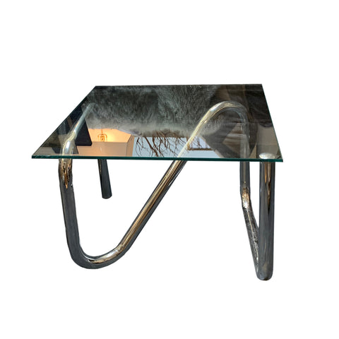 Tubular Glass End Tables