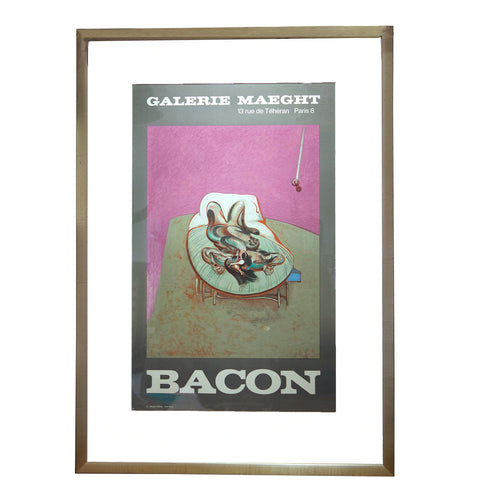 Framed Francis Bacon Gallery Maeght Off-Set Lithograph Poster