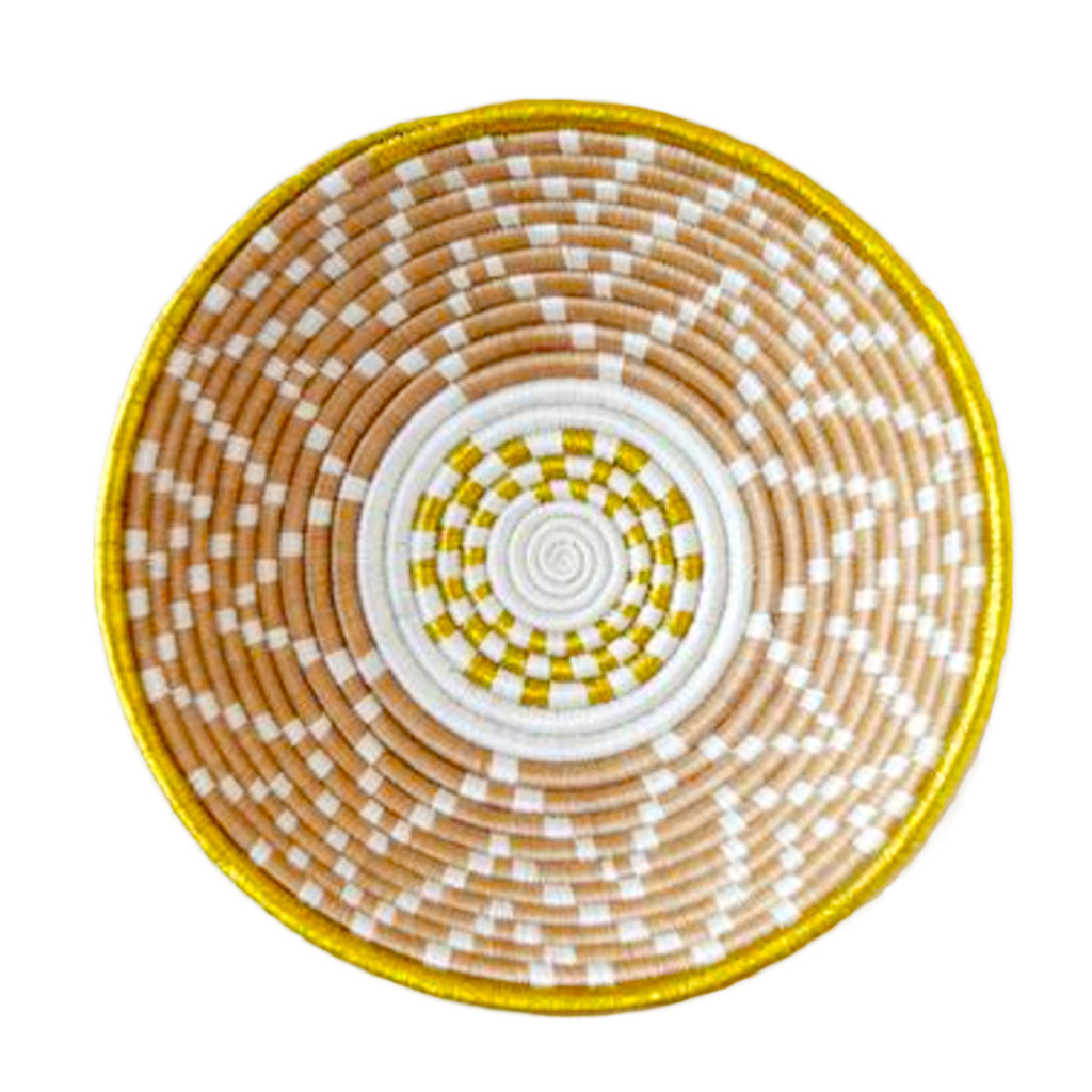 Handwoven Metallic Rim Bowl