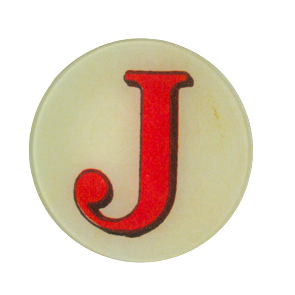 John Derian Round Letter Dish (Assorted Letters)