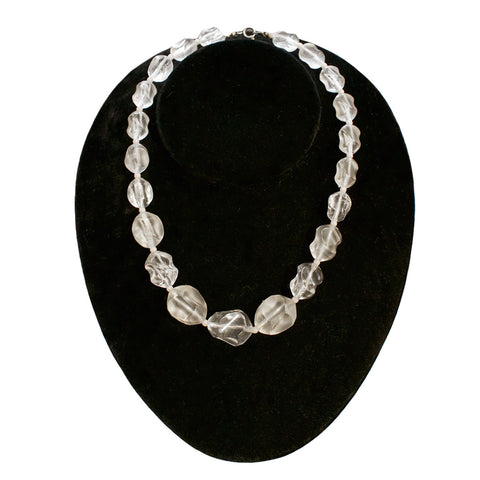 Clear Lucite Vintage Necklace