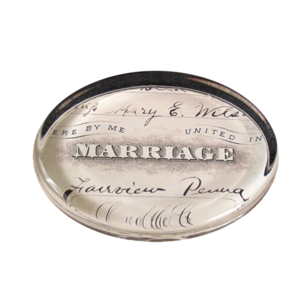 John Derian Marriage Oval Paperweight