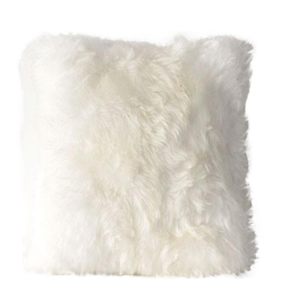 White Sheepskin Pillow