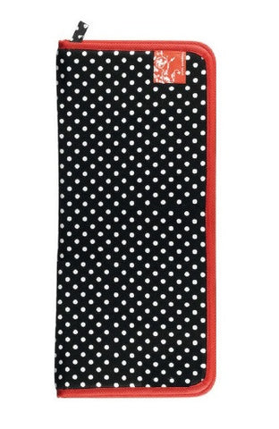 Knitting needles case Dot black & white