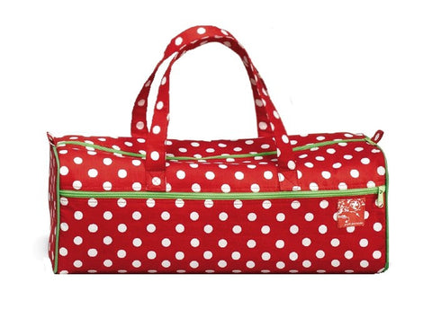 Knitting Bag Dot red & white