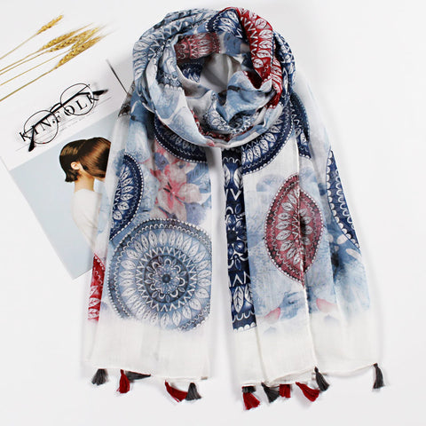 Fashion Scarf Azul