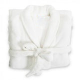 Coral Fleece Robe White