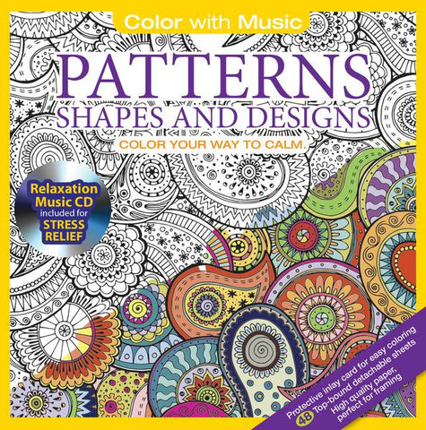 Anti-Stress Coloring - Patterns Shapes & Designs