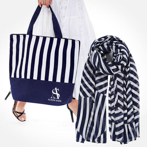 Elegant Tote Bag + Fashion Scarf Set
