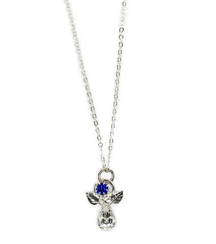 Guardian Angel Chain and Pendant -Blue