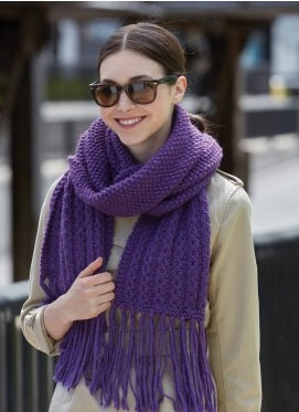 Book end knit scarf