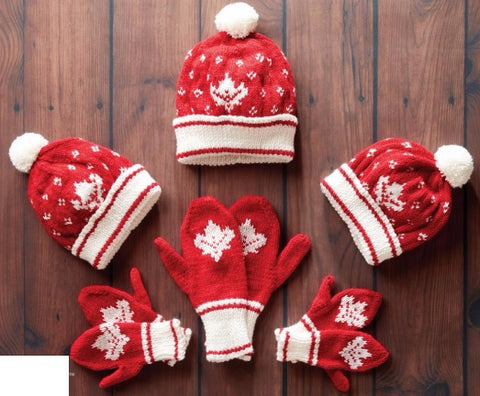 Canada knit toque and mittens kit