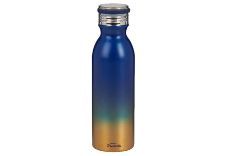 Blue and Gold Stainless Steel Bottle, 20oz