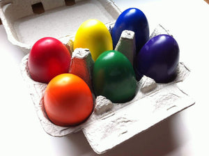 Egg Crayons in Carton - TREEHOUSE kid and craft