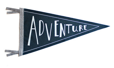 ADVENTURE Wool Pennant Flag
