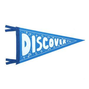 DISCOVER Wool Pennant Flag