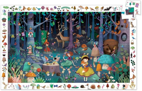 Enchanted Forest Observation Puzzle and Poster