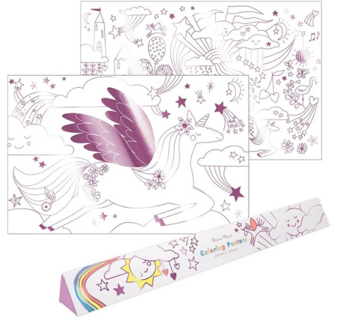 Unicorn Coloring Posters - TREEHOUSE kid and craft