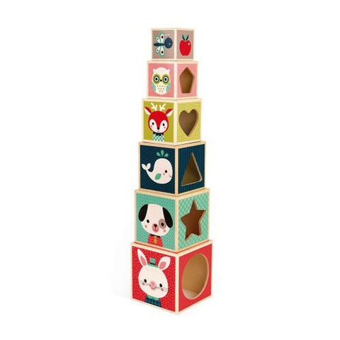 Pyramid 6 Cubes - TREEHOUSE kid and craft