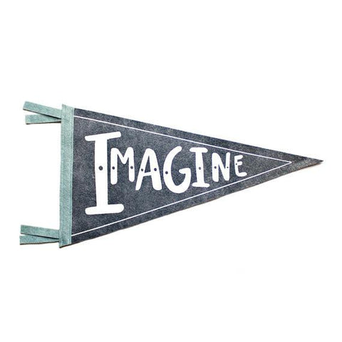 IMAGINE Wool Pennant Flag