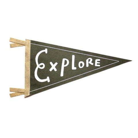 EXPLORE Wool Pennant Flag