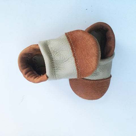 Two-Tone Baby Loafers
